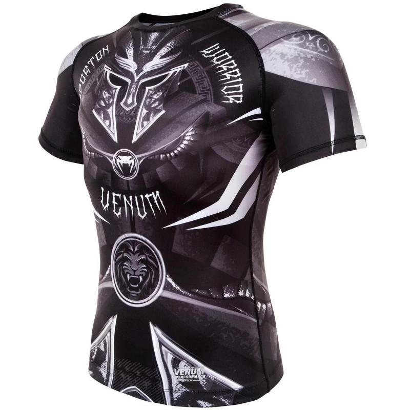 Рашгард Venum Gladiator 3.0 с Коротким рукавом Чёрный/Белый (01840) фото 3