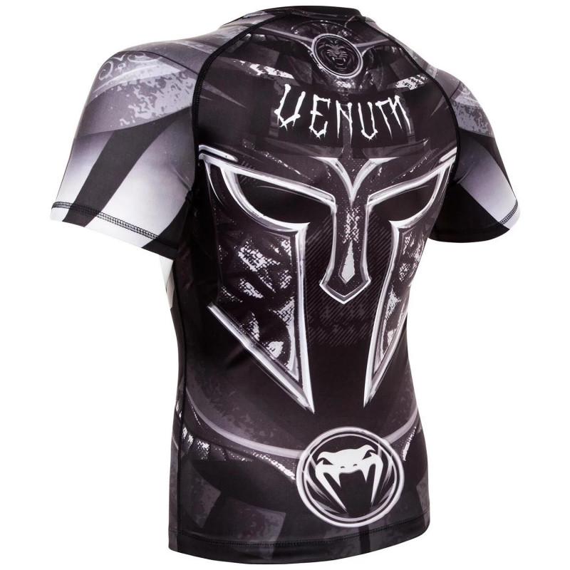 Рашгард Venum Gladiator 3.0 с Коротким рукавом Чёрный/Белый (01840) фото 4