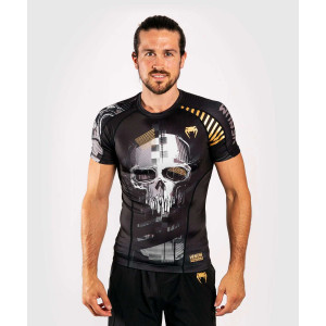 Рашгард с коротким рукавом Venum Skull Rashguard Short sleeves Black