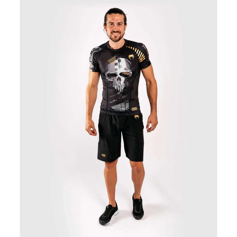 Рашгард с коротким рукавом Venum Skull Rashguard Short sleeves Black (01960) фото 10