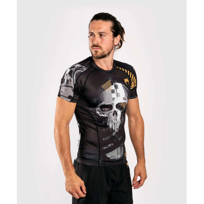 Рашгард с коротким рукавом Venum Skull Rashguard Short sleeves Black (01960) фото 4