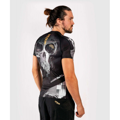 Рашгард с коротким рукавом Venum Skull Rashguard Short sleeves Black (01960) фото 5