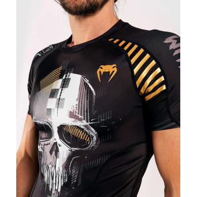 Рашгард с коротким рукавом Venum Skull Rashguard Short sleeves Black (01960) фото 7