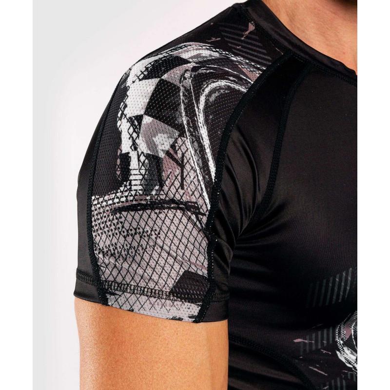 Рашгард с коротким рукавом Venum Skull Rashguard Short sleeves Black (01960) фото 8