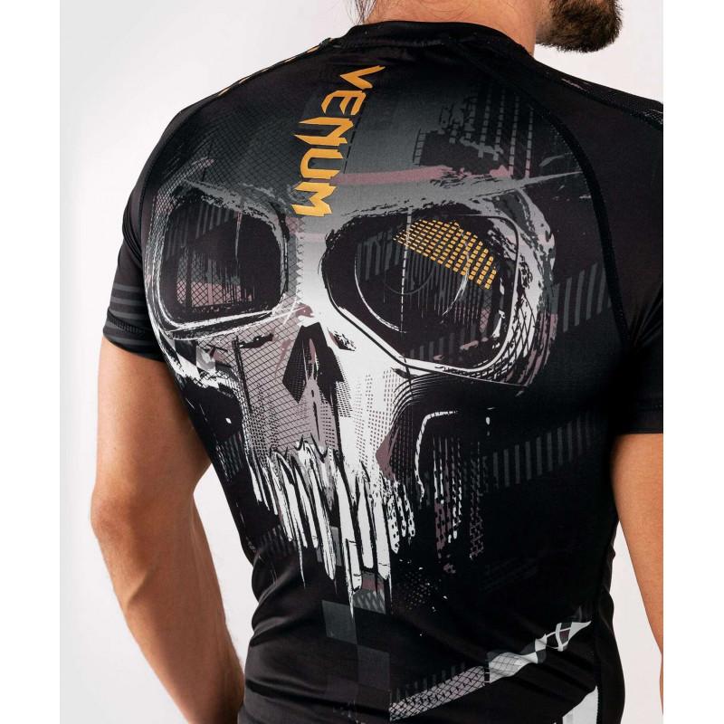 Рашгард с коротким рукавом Venum Skull Rashguard Short sleeves Black (01960) фото 9