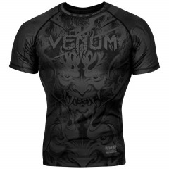 Рашгард Venum Devil с Коротким Рукавом Чёрный