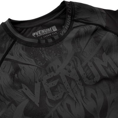 Рашгард Venum Devil с Коротким Рукавом Чёрный (01842) фото 5