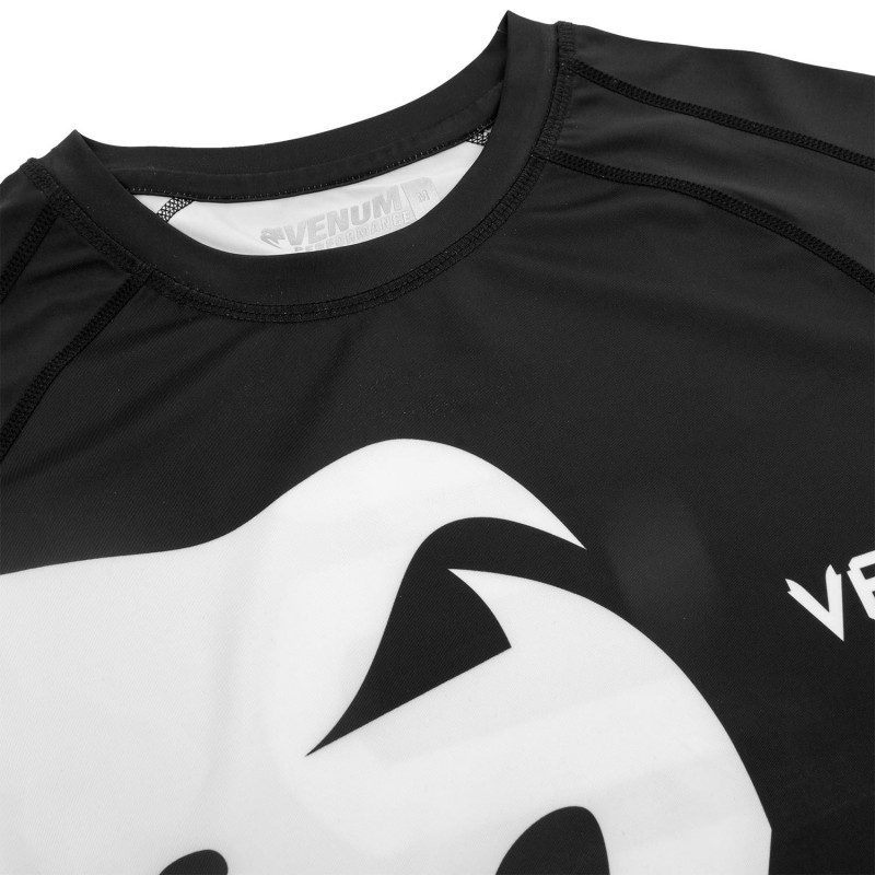 Рашгард Venum Giant с Коротким Рукавом Чёрный/Белый (01843) фото 4