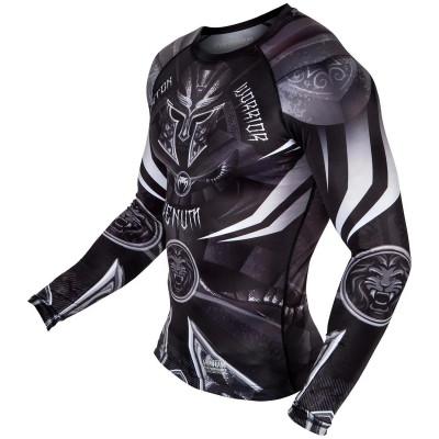 Рашгард Venum Gladiator 3.0 с Длинным рукавом Чёрный/Белый (01841) фото 3