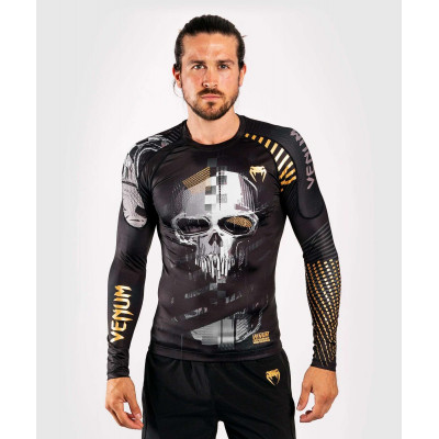 Рашгард с длинным рукавом Venum Skull Rashguard Long sleeves Black (01959) фото 1