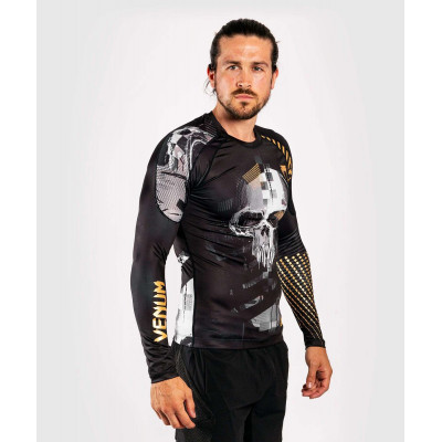 Рашгард с длинным рукавом Venum Skull Rashguard Long sleeves Black (01959) фото 2