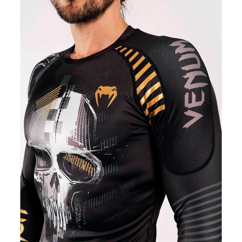 Рашгард с длинным рукавом Venum Skull Rashguard Long sleeves Black (01959) фото 7
