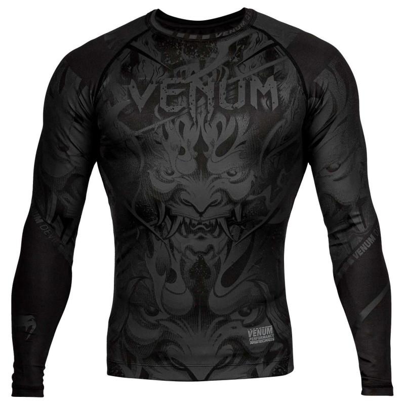 Рашгард Venum Devil Rashguard Long Black/Black (01994) фото 1