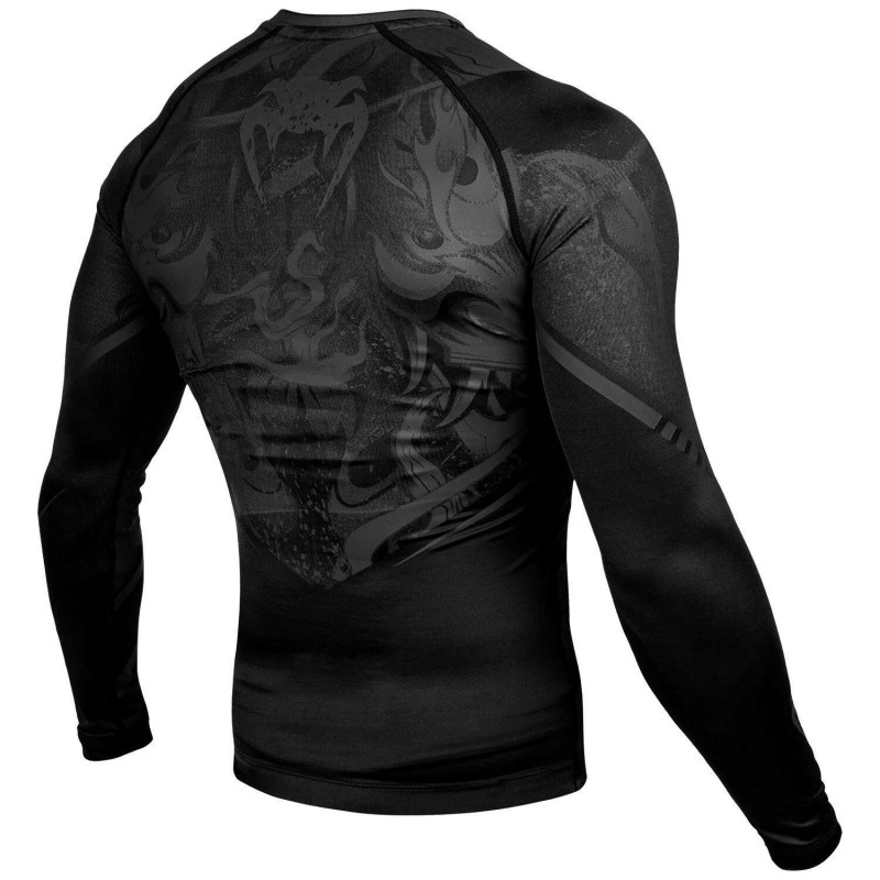 Рашгард Venum Devil Rashguard Long Black/Black (01994) фото 4
