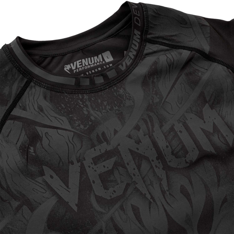 Рашгард Venum Devil Rashguard Long Black/Black (01994) фото 5
