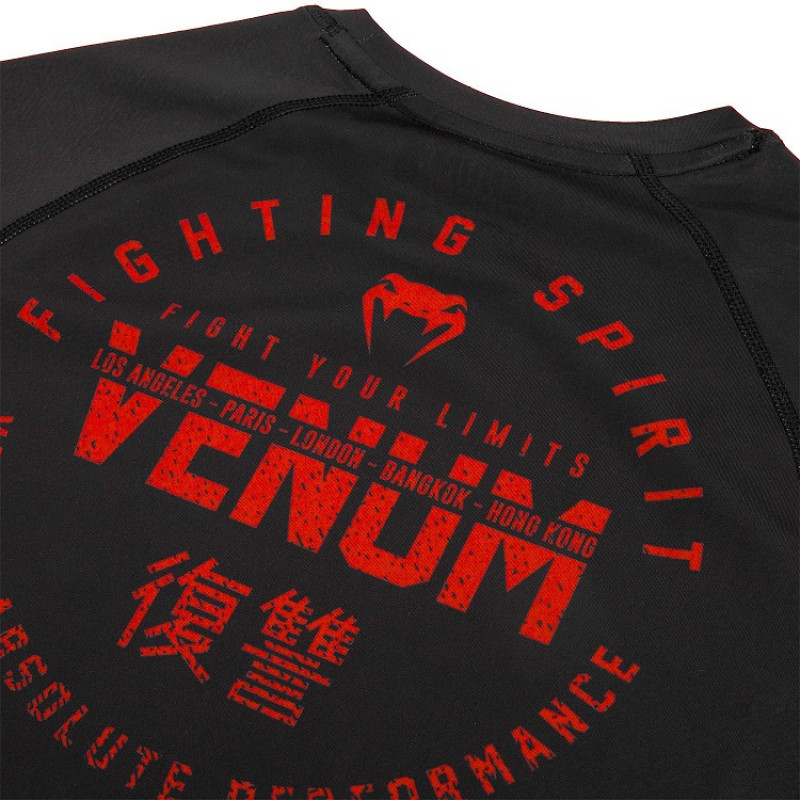 Рашгард Venum Signature Rashguard Short Black/Red (01741) фото 5