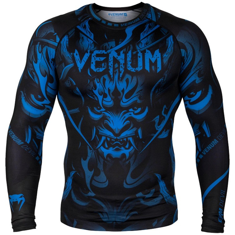 Рашгард Venum Devil Rashguard Long Sleeves N/Blue (01563) фото 1