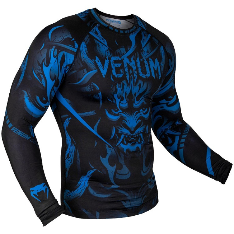 Рашгард Venum Devil Rashguard Long Sleeves N/Blue (01563) фото 3