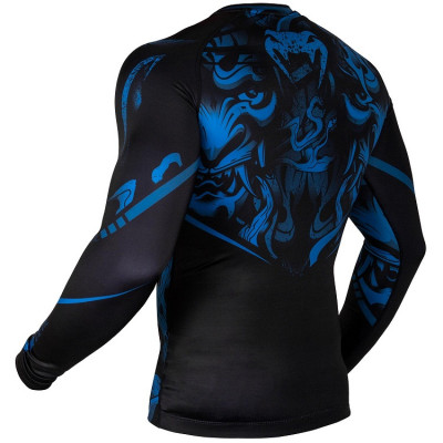 Рашгард Venum Devil Rashguard Long Sleeves N/Blue (01563) фото 4