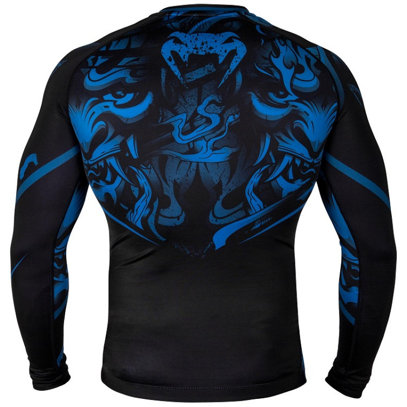Рашгард Venum Devil Rashguard Long Sleeves N/Blue (01563) фото 2