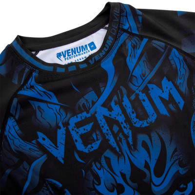 Рашгард Venum Devil Rashguard Long Sleeves N/Blue (01563) фото 5