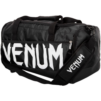 Сумка Venum Sparring Sport Bag Black White (01174)