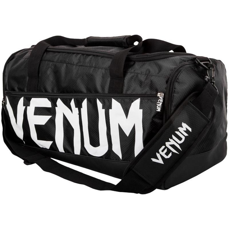 Сумка Venum Sparring Sport Bag Black White (01174) фото 1
