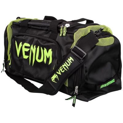 Спортивная Сумка Venum Trainer Lite Sports Bag Черная/Нео желтый (01868)