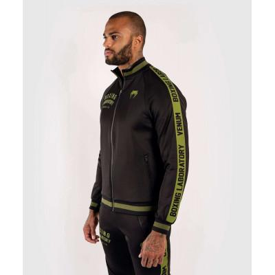 Олимпийка Venum Boxing Lab Track Jacket Black/Green (02100) фото 3
