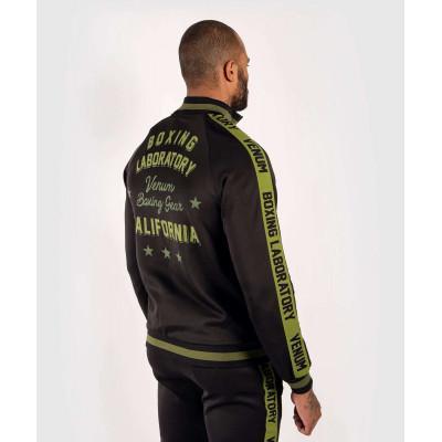 Олимпийка Venum Boxing Lab Track Jacket Black/Green (02100) фото 4