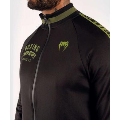 Олимпийка Venum Boxing Lab Track Jacket Black/Green (02100) фото 5