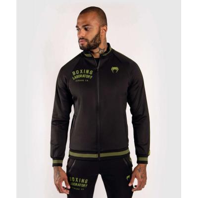 Олимпийка Venum Boxing Lab Track Jacket Black/Green (02100) фото 1