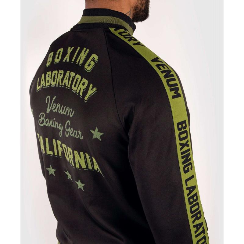 Олимпийка Venum Boxing Lab Track Jacket Black/Green (02100) фото 6