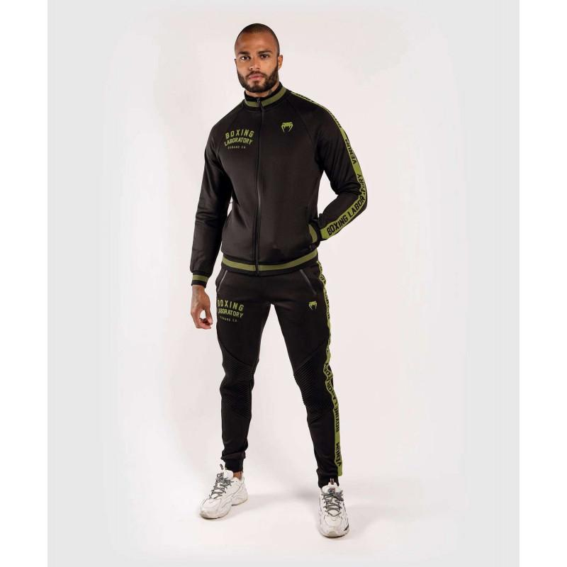 Олимпийка Venum Boxing Lab Track Jacket Black/Green (02100) фото 7