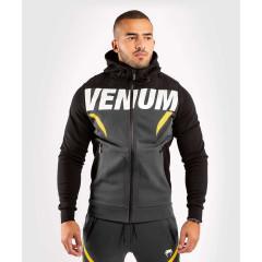Толстовка Venum ONE FC Impact Hoodie Grey/Yellow