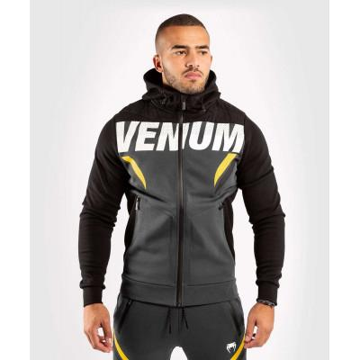 Толстовка Venum ONE FC Impact Hoodie Grey/Yellow (02033) фото 1
