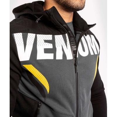 Толстовка Venum ONE FC Impact Hoodie Grey/Yellow (02033) фото 5