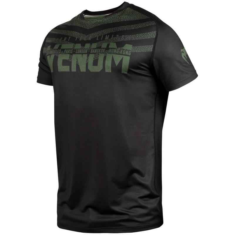 Футболка Venum Signature Dry Tech Black/Khaki (01736) фото 3