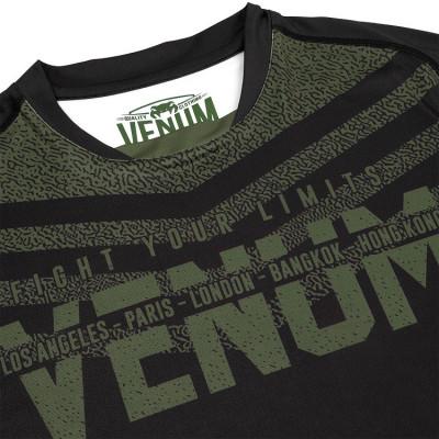 Футболка Venum Signature Dry Tech Black/Khaki (01736) фото 5