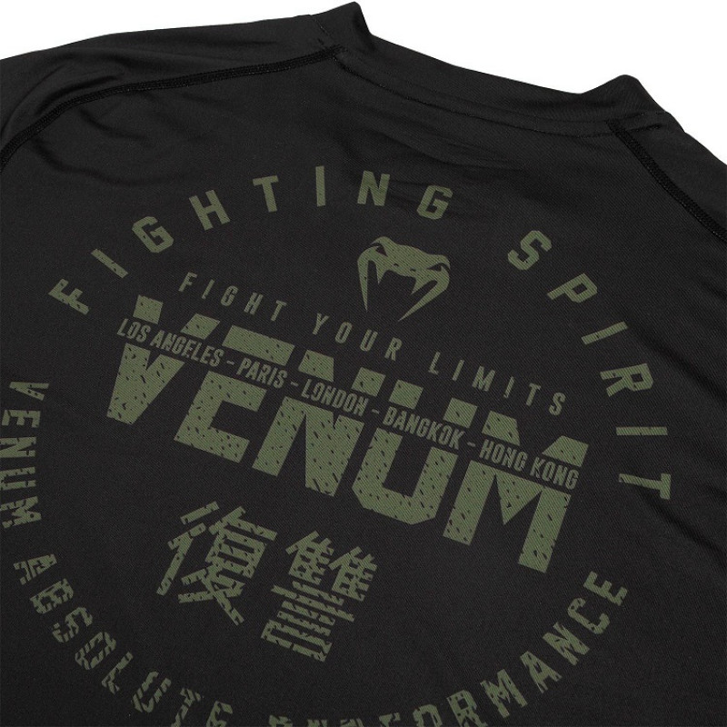 Футболка Venum Signature Dry Tech Black/Khaki (01736) фото 6