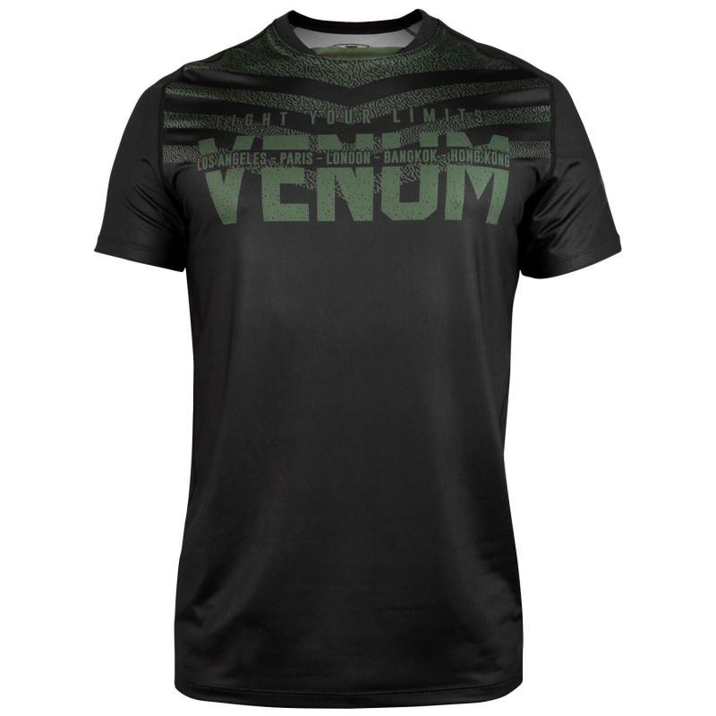 Футболка Venum Signature Dry Tech Black/Khaki (01736) фото 1