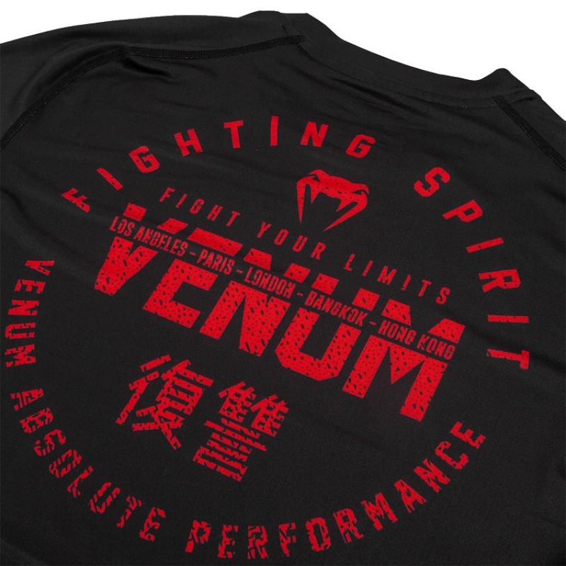 Футболка Venum Signature Dry Tech T-shirt B/Red (01737) фото 6