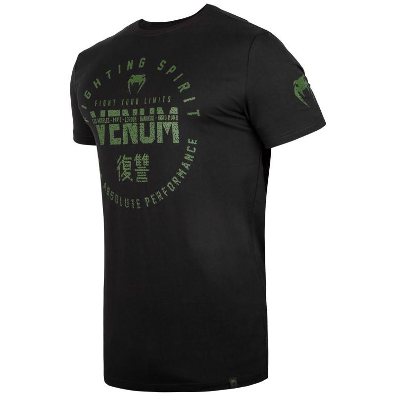 Футболка Venum Signature T-shirt Black/Khaki (01746) фото 3