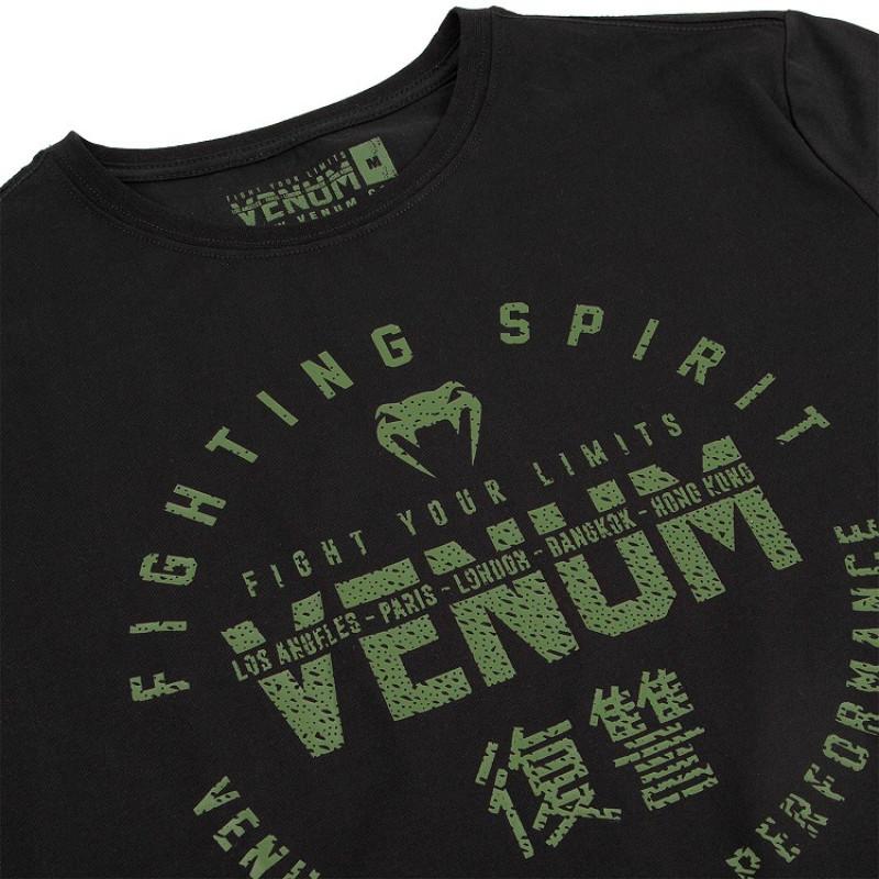 Футболка Venum Signature T-shirt Black/Khaki (01746) фото 5