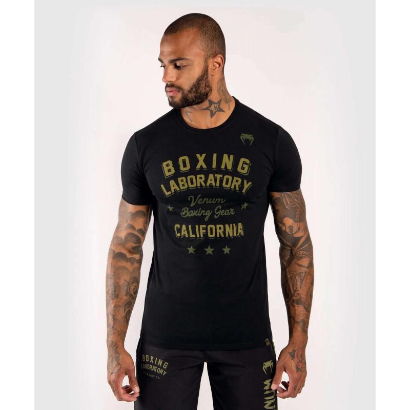 Футболка Venum Boxing Lab Tshirt Black/Green (02029) фото 1