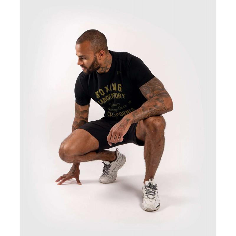Футболка Venum Boxing Lab Tshirt Black/Green (02029) фото 6