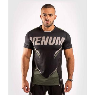 Футболка Venum ONE FC Impact Dry Tech Black/Khaki (02072) фото 1