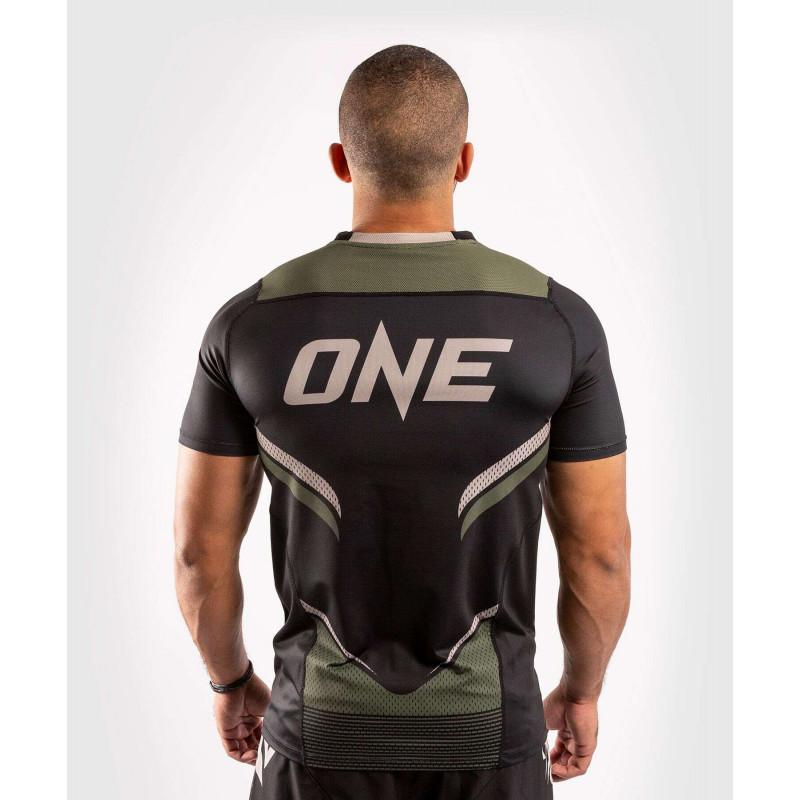 Футболка Venum ONE FC Impact Dry Tech Black/Khaki (02072) фото 2