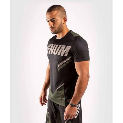 Футболка Venum ONE FC Impact Dry Tech Black/Khaki (02072) фото 3