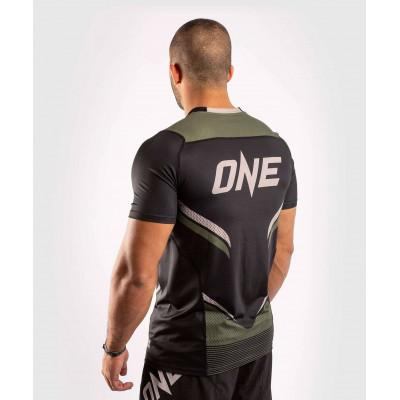 Футболка Venum ONE FC Impact Dry Tech Black/Khaki (02072) фото 4
